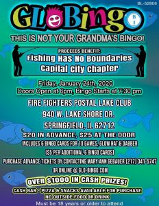 Fishing Has No Boundries Glow Bingo @ Firefighters Postal Lake Club